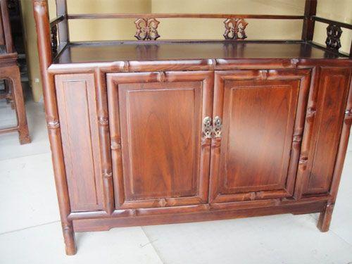 中式老榆木餐厅备餐柜