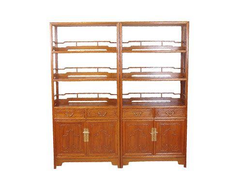 明清中式老榆木办公室书架