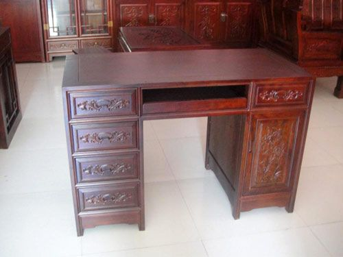 北京老榆木写字台定做工厂