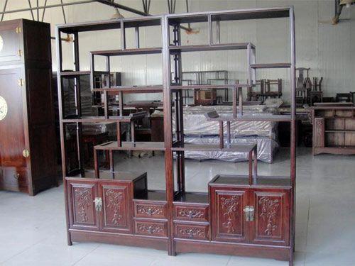 北京中式明清老榆木博古架