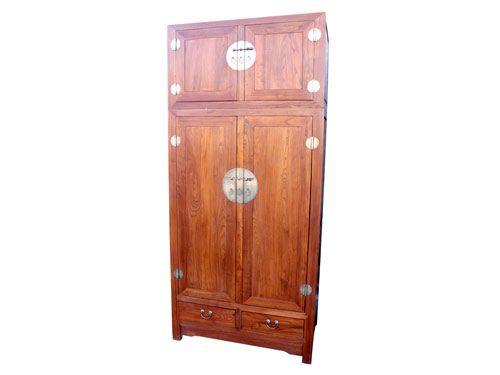 香河明清中式老榆木衣柜批发价格