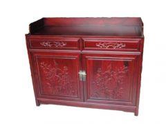 香河古典老榆木中式备餐柜