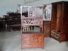 中式古典老榆木衣架定制厂家