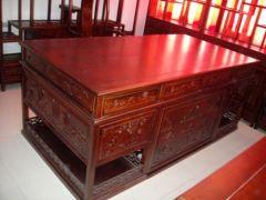 北京中式古典榆木书桌定做
