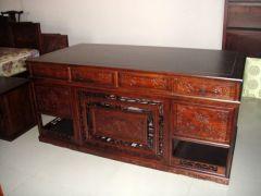 北京明式榆木办公桌电脑桌
