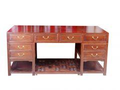 古典中式榆木办公桌定制