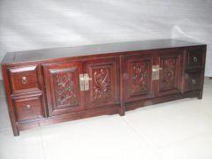 天津中式古典老榆木电视柜