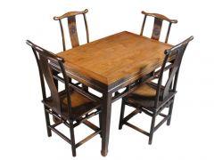 仿古明清老榆木餐桌椅定做价格